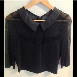 Material Girl black crop top